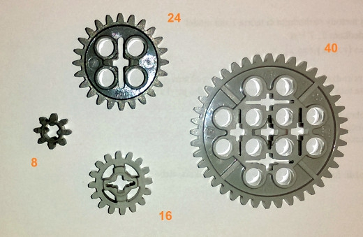basic set of gear wheels