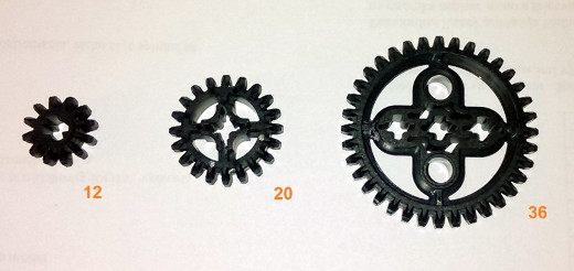 a new set of gear wheels